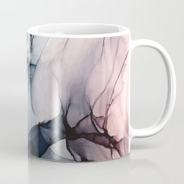 Blush, Navy and Gray Abstract Calm Clouds Coffee Mug