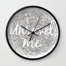 Unravel Me Wall Clock
