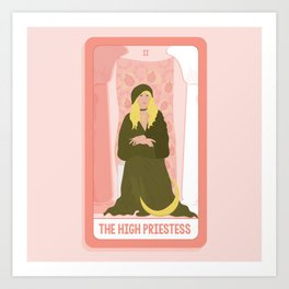 Tarot Card II: The High Priestess Art Print