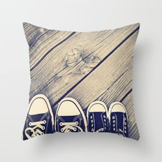 Like Father Like Daughter Throw Pillow