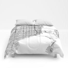 Miami Map White Comforters
