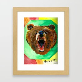 This is a bear Framed Art Print