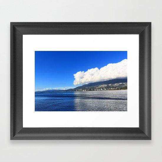 Blue vs. White Framed Art Print