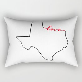 Home Sweet Home - Texas - Love Rectangular Pillow