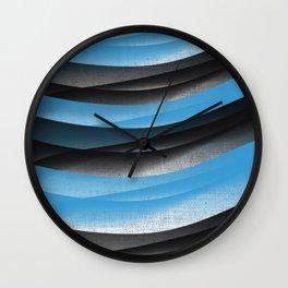 Black Blue Wall Clock