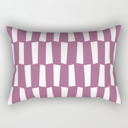 Mauve pink and white abstract shapes pattern Rectangular Pillow