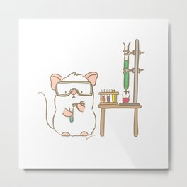 Lab Mouse Metal Print
