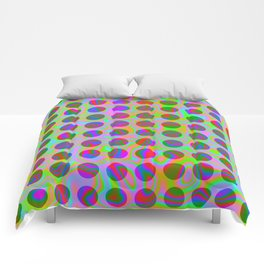 Psychedelic Rainbow Spots Pattern Comforters