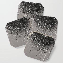 Silver Gray Glitter #1 #shiny #decor #art #society6 Coaster