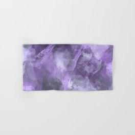 Stormy Abstract Art in Purple and Gray Hand & Bath Towel