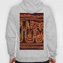 Antik motif with fire Hoody