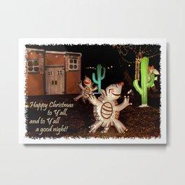 Holiday Armadillos Metal Print