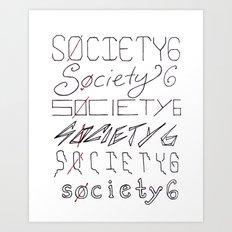 Six Society Sixes Art Print