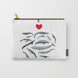 I love whales design Carry-All Pouch