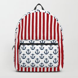 Nautical Anchor and Stars Backpack