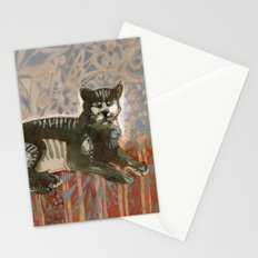 Cat on the sofa Stationery Cards