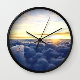 Sunrise Above the Clouds Wall Clock