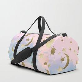 Pastel Starry Sky Moon Dream #1 #decor #art #society6 Duffle Bag