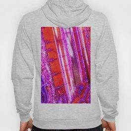 Candy Striped Red & Purple Quartz Hoody