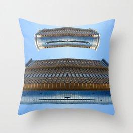 Alien City Mothership Throw Pillow