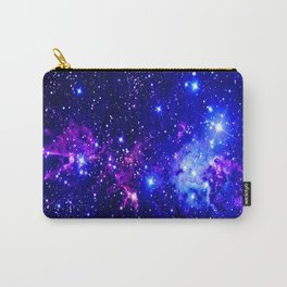 Fox Fur Nebula Galaxy blue purple Carry-All Pouch