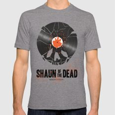 Shaun of the dead MEDIUM Tri-Grey Mens Fitted Tee