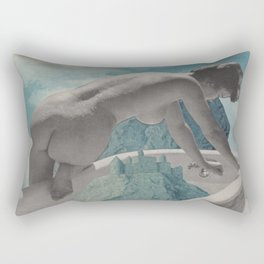 Testing The Waters - collage  Rectangular Pillow