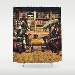 Alien V Predator Shower Curtain
