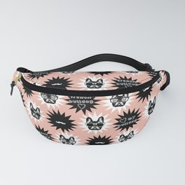 Pink Frenchie, french bulldog pattern, dog pattern, pet, animals Fanny Pack