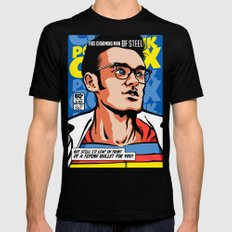 Post-Punk Comix: Moz Black MEDIUM Mens Fitted Tee