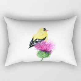Little Goldfinch by Teresa Thompson Rectangular Pillow