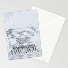 Typed Out Stationery Cards