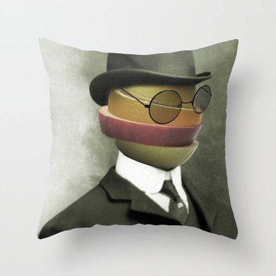 Bowler fruit Throw Pillow