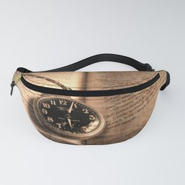 Rustic Story Time Still life Book Watch Modern Cottage Chic Art A551 Fanny Pack