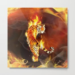 Chinese tiger painting  Metal Print
