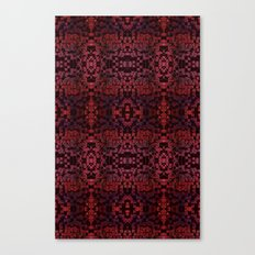 Electric Red Cubes  Canvas Print