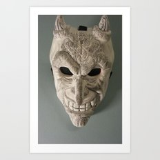 celtic demon Art Print
