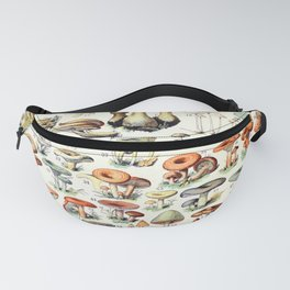 Adolphe Millot - Champignons B - French vintage poster Fanny Pack