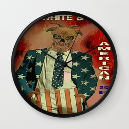 RED WHITE AND BOO - 003 Wall Clock