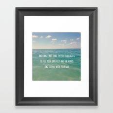 Oceanic Inspiration Framed Art Print