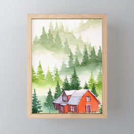 Foggy Forest #7 Framed Mini Art Print