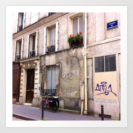 Paris Sidewalks Art Print