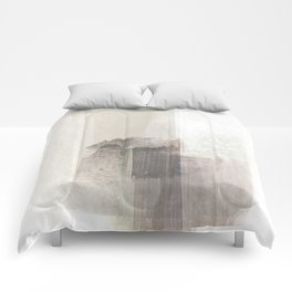 Beige and Brown Minimalist Abstract Painting Comforters