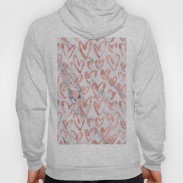 Hearts Rose Gold Marble Hoody