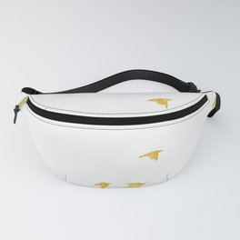 Raven Birds in Gold Copper Bronze Fanny Pack