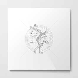 Discobolus Metal Print