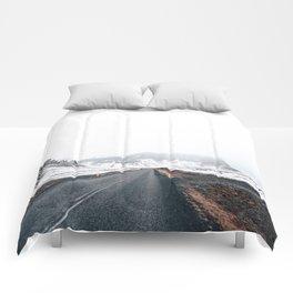 Icelandic landscape in winter Comforters