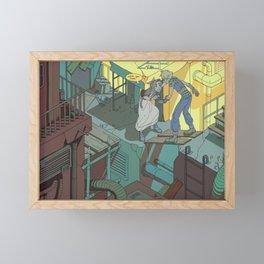 slum guide Framed Mini Art Print
