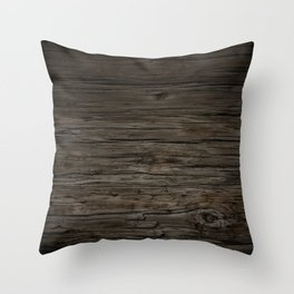 Rustic Reclaimed Wood Throw Pillow