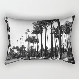 Los Angeles Black and White Rectangular Pillow